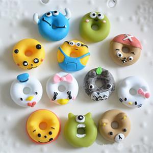 200 pcs Kawaii Dos Desenhos Animados Donuts Animais Resina Em Miniatura Arte Food Flatback Cabochão DIY Scrapbooking Artesanato Decorativo, 18mm