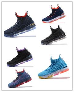 2018 di alta qualità Pattini di pallacanestro degli uomini all'ingrosso 15 Autentico Sport Sneakers LB15 professionista di pallacanestro 15s Scarpa formatori 41-47