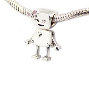 Bella Bot Charm Charm Lovely Girl perline per donna Gioielli fai da te Creazione di charms in argento Fit originale argento 925 bracciali bracciali Bangle