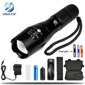 T6 4000Lumens 5 model High Power LED Torches Zoomable Tactical LED Flashlights torch light for 3xAAA or 1x18650 battery