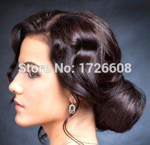 Nueva Reina Peruca Herramientas de estilo sintético Fake Hair Bun peluca de pelo Chignons Roller Hepburn Hairpiece Clip en Buns Toupee para mujeres