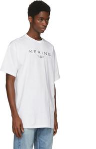 İlkbahar / yaz 2018 BLCJ Paris Kering ön göğüs baskılı kısa kollu erkekler ve kadınlar için TEE TEE gömlek.
