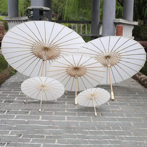 Bridal Wedding Paper Umbrellas Parasols Handmade Plain Chinese Mini Craft Umbrella For Hanging Ornaments Diameter:20-30-40-60cm HH7-993