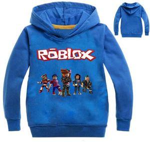 2-12 Anni Top Roblox Shirt Ragazzi Felpe con cappuccio Teenager Ape Girls Felpa Bebes Kids Jumper Fall Breakdance Abbigliamento Nova