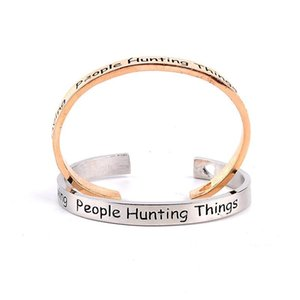 Hot 316L Edelstahl-Liebes-Herz-Armband Saving Menschen Jagd Dinge Brief Öffnungs-Armband