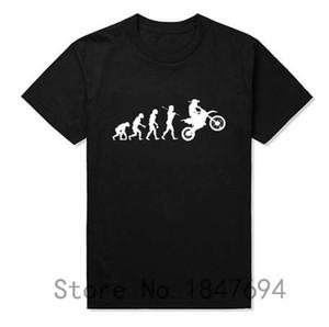 Yaz Moda Evrim Motocross T Shirt Erkekler Kısa Kollu Pamuklu Tişört Komik Dirtbike Giyim
