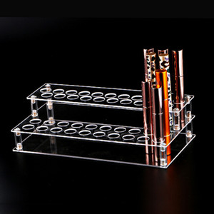 Transparente transparente acrílico 41-agujero lápiz labial labial brillo de uñas polaco cosmético maquillaje organizador caja caja de visualización soporte de rack