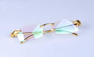 سوبر ضوء نقية النظارات التيتانيوم بدون إطار إطار الذكور حجم تجاري إطار النظارات الفهد رئيس نظارات خفيفة مسطحة