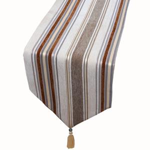 Modern Luxury Stripe Velvet Table Runner High End Table rectangulaire en tissu pour la taille Party Table à manger de mariage Décoration de Noël 4 choisir