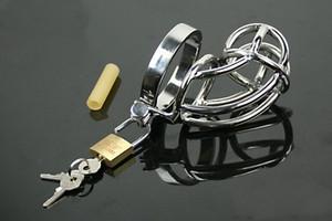 Мужской 304-нержавеющая сталь Бондаж Chastity Art Device / Клетка / Петух кольцо / SM Фетиш Секс игрушки / Кольца пениса