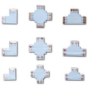 L T X 모양 8mm 10mm 12mm 2pin 4pin 5pin 단색 RGB RGBW LED 지구 모서리 연결 관 PCB 널 쪼개는 도구 연결 관