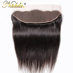 Nadula Hair 13x4 Brazilian Straight Hair Lace Frontals 10-20inch Free Part Closure 130% Density Non Remy Free Shipping