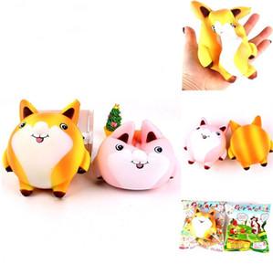 PU Cartoon Fox Squishy Nette Ungiftige Dekompression Spielzeug Tier Langsam Steigender Squeeze Squishies Großverkauf der Fabrik 13sq CB