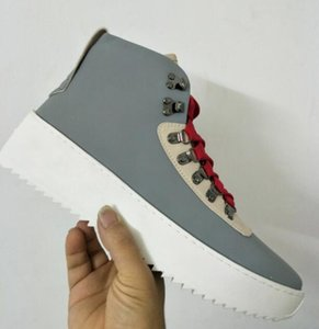 2018 nouveau Meilleur Qualité gris Peur de Dieu Top Militaire Sneakers Hight Army Bottes Hommes et Femmes Mode Chaussures Martin Bottes 39-46