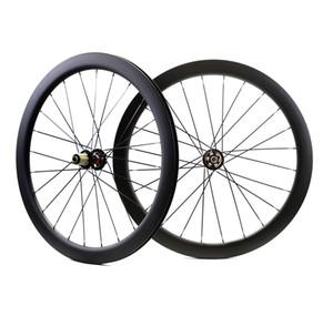 Roues de carbone de frein de disque de route de profondeur de 700C 50mm largeur de 25mm Clincher / disque tubulaire Cyclocross Bicyclettes de carbone de bicyclette UD matte finsh