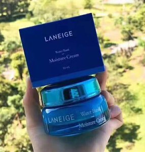 DHL Freeshipping Excellent Quality Laneige Moisturizing Water Bank Gel Cream Mineral Water Day Night Cream 50ml