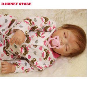 Sevimli Giyim Moda Reborn Boy Bebekler toptan olarak 22 '' Reborn Bebekler El Yapımı Silikon Reborn Baby Doll
