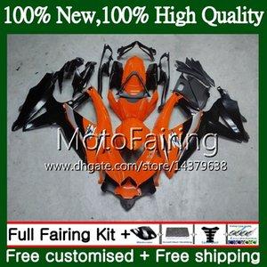Cuerpo para SUZUKI GSXR750 08 09 10 K8 GSXR 600 08 10 26MF20 GSX-R750 GSX-R600 Negro anaranjado GSXR 750 GSXR600 2008 2009 2010 Carrocería de carenado