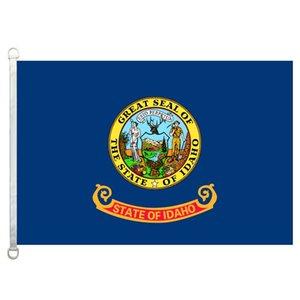 Idaho Flag Banner 3X5FT-90x150cm 100% Poliéster, 110gsm Warp Tejido de punto Bandera al aire libre