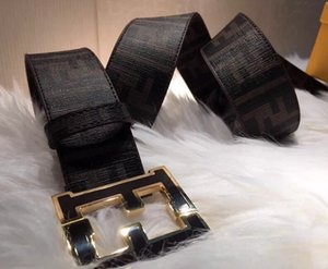 CINTURÓN F 2019 El cuero auténtico incluye la caja del número de serie Hebilla grande Cinturón F reversible marrón reversible negro Hecho en Italia