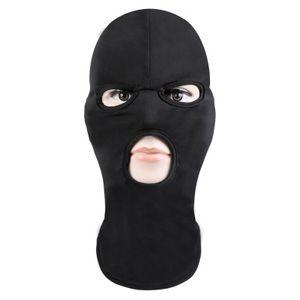 Маска для лица Лыжная маска велосипед Hat Full Face Cover Три 3 Hole Knit Hat Winter Stretch снег маска пылезащитный для взрослых