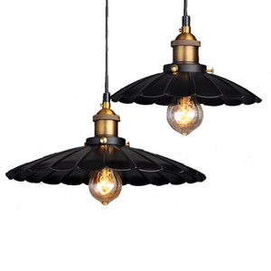 Metal Creative Retro Lotus Chandelier personality Decoration Iron Pendant Lamps for Restaurant Cafe Bedroom Indoor Lighting E27