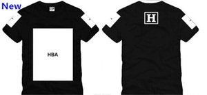 Trasporto libero 2018 nuova maglietta di estate maglietta HBA t-shirt 100% cotone 5 colori S-XXXL W6
