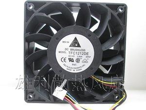 Wholesale- Free Delivery. Fan 3.9A violent wind 12cm fan TFC1212DE 12V I miner fan