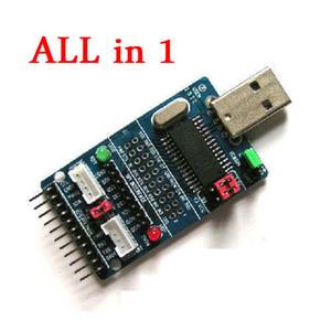 Freeshipping все в 1 CH341A USB к SPI/I2C/IIC/UART/TTL / ISP модуль последовательного адаптера EPP / mem конвертер для последовательной отладки кисти RS232, RS485