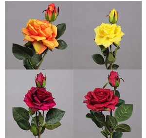 6 Pcs Lot Artificial Flowers Real Touch Flower Artificial Rose 2 Heads Peony Decorative Flowers Wedding Party Bouquet Home Decor