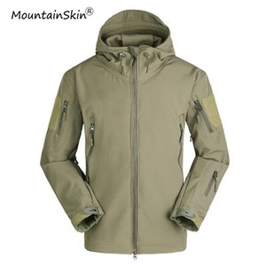 Mountainskin Herren Jacken Wasserdicht Winddicht Softshell Jacken Fleece Oberbekleidung Männliche Modemarke Mäntel LA665