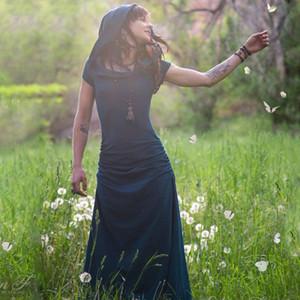 2018 Kaleidoscope Dreamcatcher Dress Elven Forest Gypsy Dress Festival Abbigliamento Faery Nymph Pixie Bohemian Romantic Dropshipping