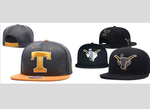One Piece Texas Longhorns NCAA Snapback Chapeaux Flat USA College Cartoon Logo Casquettes Réglables reflétant les os de baseball