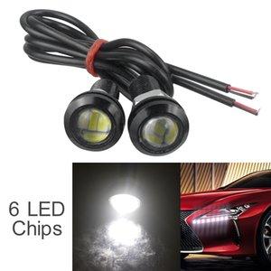 2pcs 12V 18mm 15W 6 LED del coche de Eagle Eye niebla DRL invierte el estacionamiento de copia de seguridad de la señal de luz CLT_215