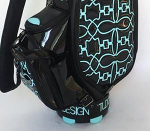 2018 nouvelle arrivée marque noire sac de golf limite vente haute qualité femmes hommes imperméable cuir sac de balle standard sac gratuit envoyer putter casques