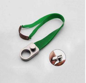 Slingshot Ring Chasse Catapulte En acier inoxydable Métal avec bande de caoutchouc Tubes de tir en plein air Prise de vue puissante Slingshots