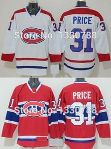 Uomo Cheap Montreal Canadiens Carey Prezzo Jersey Red Home White Away Stitched # 31 Canadians Hockey su ghiaccio Jersey 2015