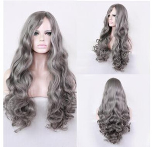Granny gray is divided into long rolls, European and American wig, big head leather, wig, wig, European and American wig.