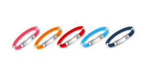 Bracciale in silicone sportivo in metallo con bracciale in silicone