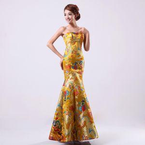 Современные восточные женщины Qipao для свадьбы китайский традиционный cheongsam формальное длинное платье роскошные cheongsams для женщин qipao