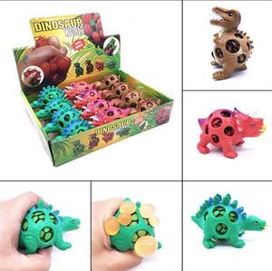 Divertido Squishy Dinosaur Grape Ball Vent Mesh Ball Squeeze Descompresión Niños Juguete Beads Dinosaur Autism Mood Squeeze Ball Envío gratis