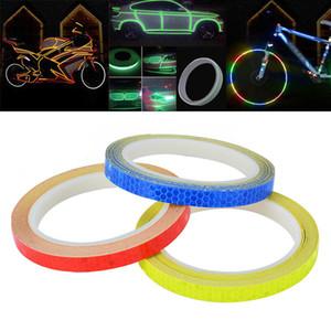 1pc 8 mètres Car Styling réfléchissant Stripe bande de moto Body Bike Rim Roue Stripe Ruban Sticker décoratif Bleu / Rouge / Jaune