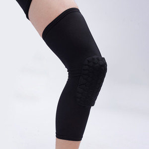 Wholesale Honeycomb Sport Safety Basketball Sports Kneepad Padded Knee Brace Compression Knee Sleeve Protector Knee Pads DS0307 Z02