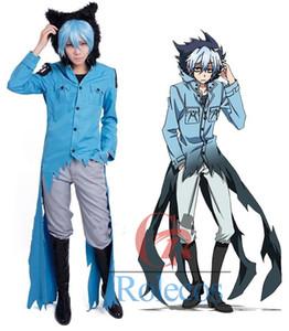 Anime SERVAMP Sleepy Ash Black Cat Kuro Vampire Cosplay Costume Jacket Pants Set