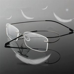 Rimless Titanium Ultra Light Reading Glasses +1 +1.5 +2 +2.5 +3 +3.5 +4 Rimless Ochki Dlya Chteniya Sin Montura Gafas De Lectura Eyewear