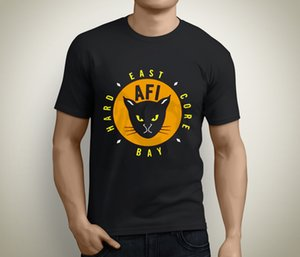 New Afi East Bay Kitty Rock Band Kurzarm-Schwarz-T-Shirt Größe S bis 3XL Short Sleeve Billig Verkauf Cotton T-Shirt