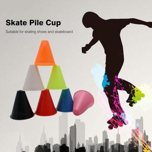 10PCS Skate Pile Cup Windproof Anti-slip Roller Skating Cone Agility Training Marker Slalom Skateboard Marking Cones