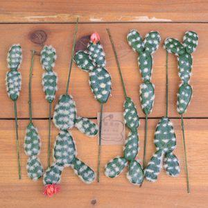 Yeni Tasarım 9pcs Cactus Succulents Bitkiler Diy Aksesuarları Yapay Çiçekler Düğün Dekor Ev Noel Dekorasyon Craft