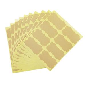 Adesivo fatto a mano Vintage Blank Kraft Etichetta adesiva FAI DA TE Fatto a mano per regalo Torta di cottura adesivo di sigillatura 80 Pz / borsa