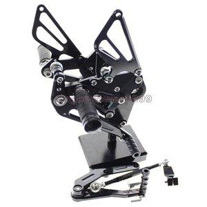دراجة نارية Rearset القدم أوتاد مجموعة مسند القدمين الخلفية قابل للتعديل بالكامل لوحات القدم لياماها FZ-09 MT-09 2013-2017 XSR900 2016-2017